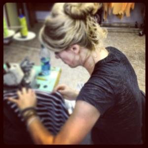 Nikki Babie sewing bamboo jersey Jupe de Vie Sample