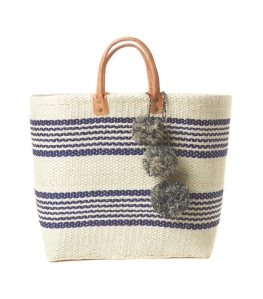 Beach Mar Y Sol – Caracas Double Stripe Sisal Tote