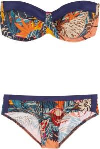 Beach Zimmerman Wanderlust Printed Bandeau Bikini