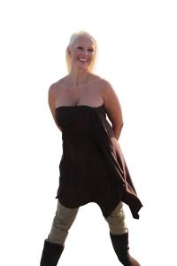 Sharon wearing a Jupe de Vie