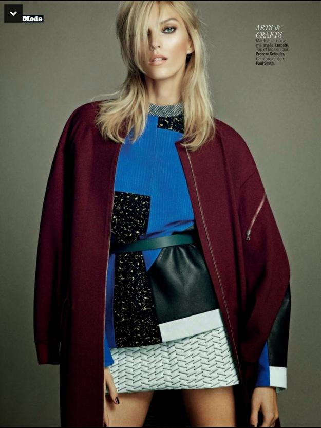 Anja Rubik for L'Express Styles September 2014